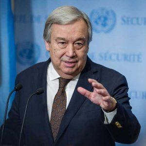 António Guterres, Secretario General de la ONU al referirse al Cambio Climático
