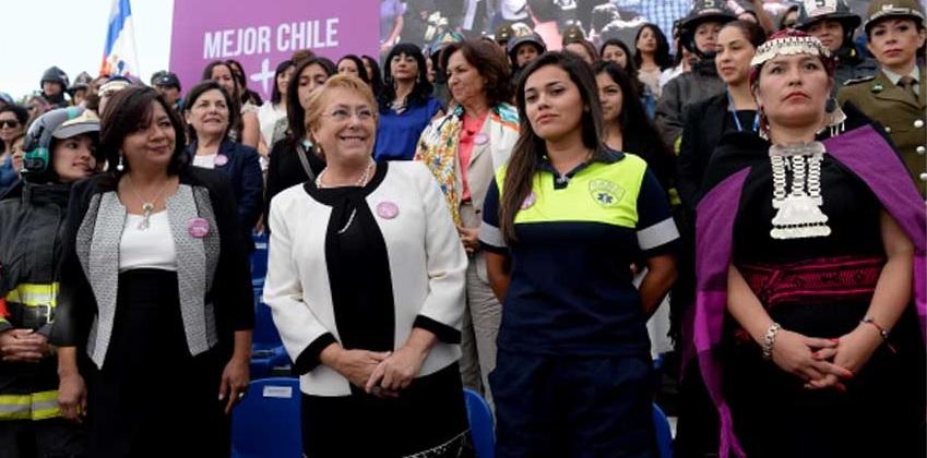 """Bachelet: """"Nuestro país y cada vez más sociedades alrededor del mundo se levantan contra las discriminaciones, la violencia y las desigualdades"""""""