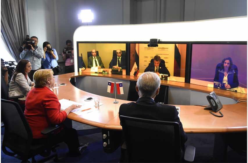 En La Moneda, Bachelet dialoga con Presidentes de la Alianza del Pacífico