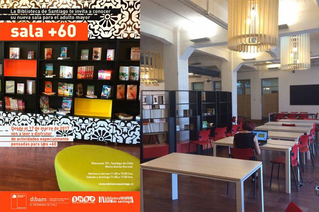 Biblioteca de Santiago inaugura espacio exclusivo para adultos mayores