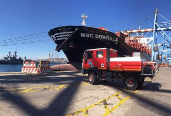 MSC y TPS entregaron carro forestal para la 1ª Compañía de Bomberos de Viña del Mar