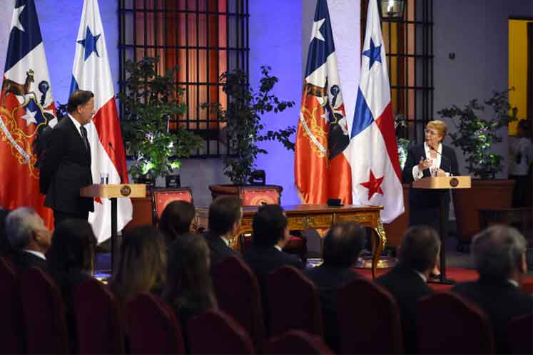 """Presidenta Bachelet y visita de Presidente de Panamá: """"Panamá es el principal destino de la inversión chilena en Centroamérica"""""""