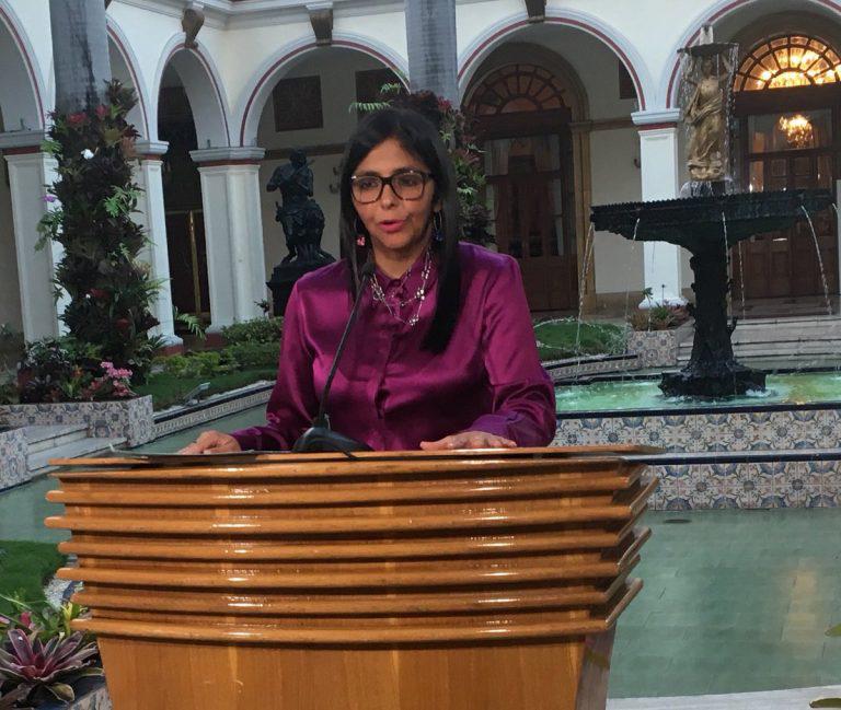 """Canciller Delcy Rodríguez: """"Tal como lo habíamos anunciado, Venezuela procede a su retiro definitivo de la OEA"""""""