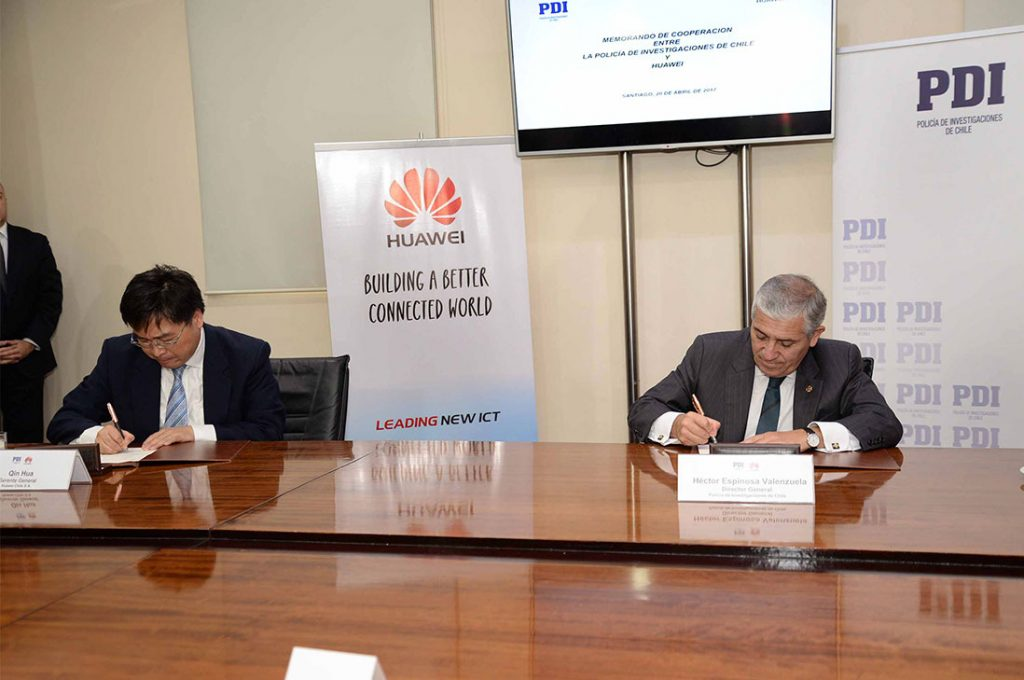 PDI y Huawei Chile firman acuerdo de cooperación tecnológica