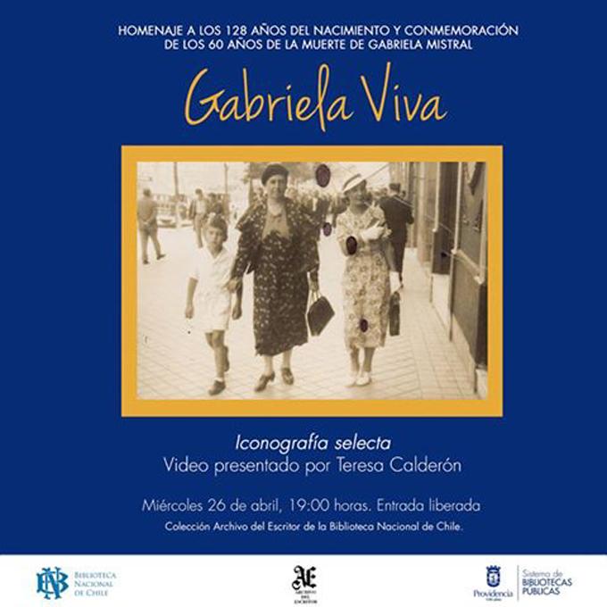 Providencia conmemora los 128 años de Gabriela Mistral