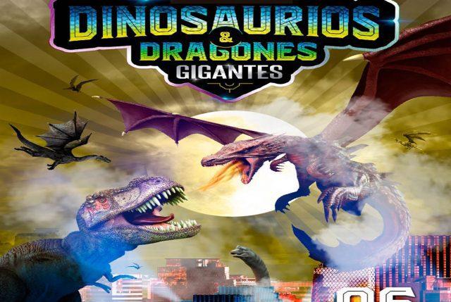 Dinosaurios & Dragones gigantes juntos por primera vez en Chile