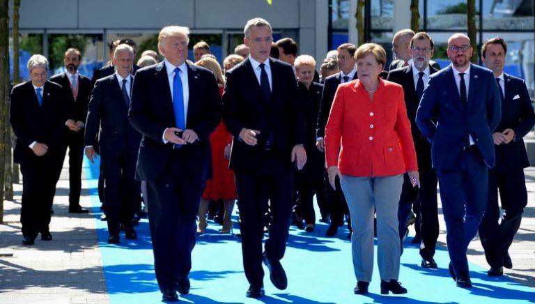 """Trump en cumbre OTAN condena terrorismo y pide que países miembros paguen las """"cuotas atrasadas"""""""