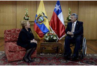 Presidenta Bachelet se reúne Mandatario de Ecuador, Lenín Moreno