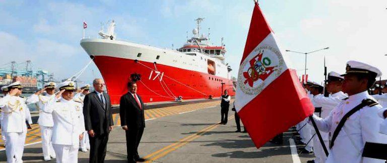 Perú incorpora nuevo buque oceanográfico polar para misiones en la Antártica