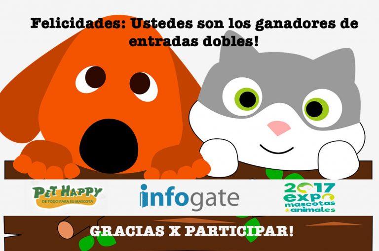 Conoce los ganadores del concurso Infogate y Pet Happy