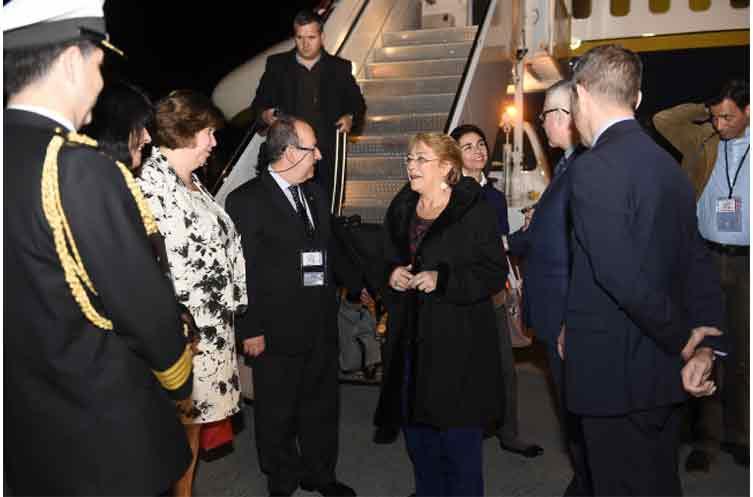 Bachelet inicia Visita de Estado en Canadá