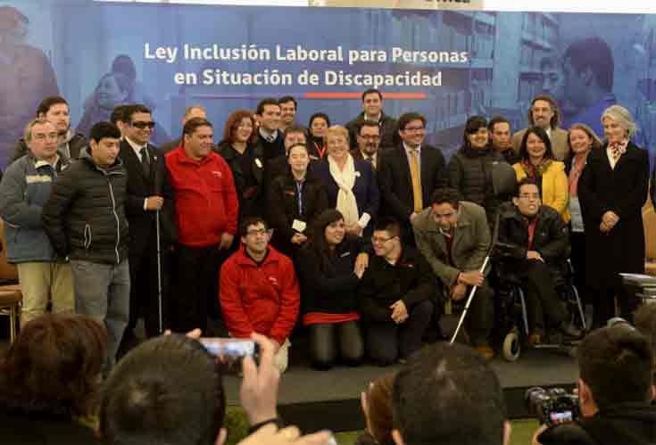 """Presidenta sobre Ley de Inclusión Laboral: """"Estamos abriendo oportunidades laborales para quienes tienen que hacer un esfuerzo mayor para surgir"""""""