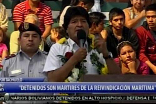 """Evo Morales sigue toreando a Chile y declara a los 9 sentenciados en Chile """"mártires de la reivindicación marítima"""""""
