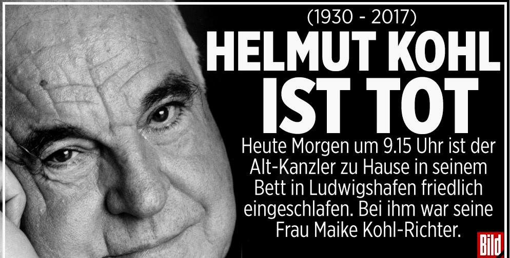 Alemania: Muere Helmut Kohl, el canciller de la reunificación
