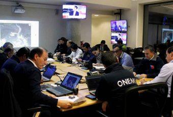 ONEMI en alerta y  mantiene coordinaciones por sistema frontal en zona centro-sur del país