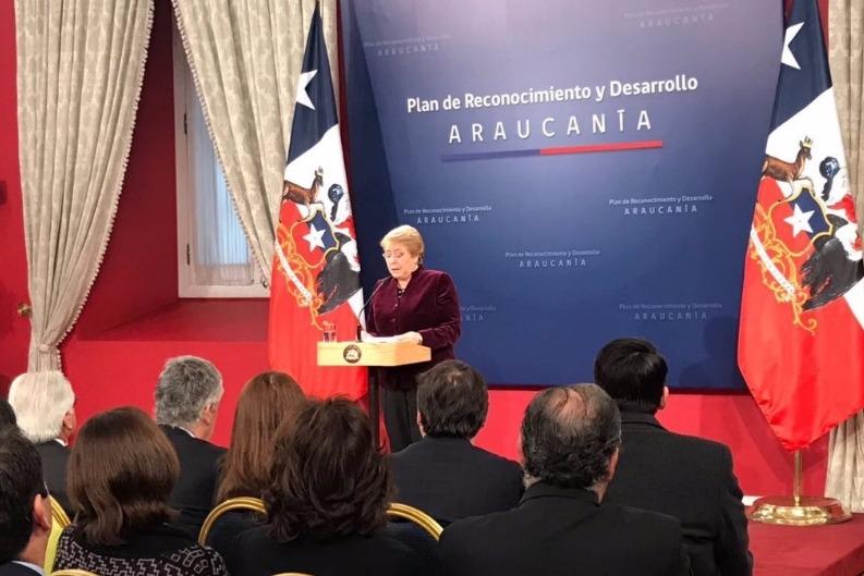 Bachelet da a conocer Plan de Reconocimiento y Desarrollo de La Araucanía y pide perdón a los pueblos originarios a nombre del Estado
