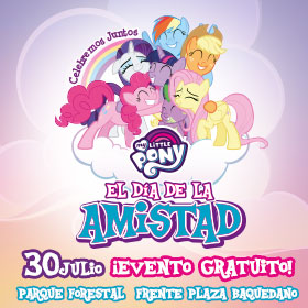 """Panorama gratuito: Celebra el día de la Amistad junto a """"My Little Pony"""""""