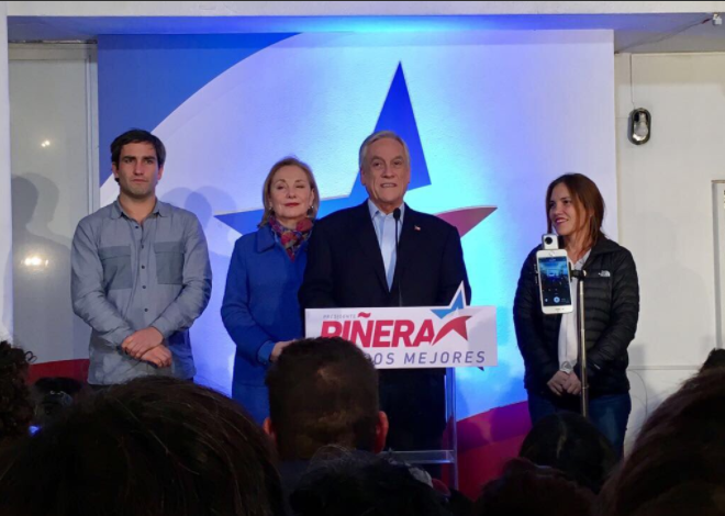 """Piñera reconoce el triunfo y le manda un recado a Ossandón: """"Se escuchó fuerte y clara la voz de los ciudadanos y se apagó la voz de los candidatos"""""""