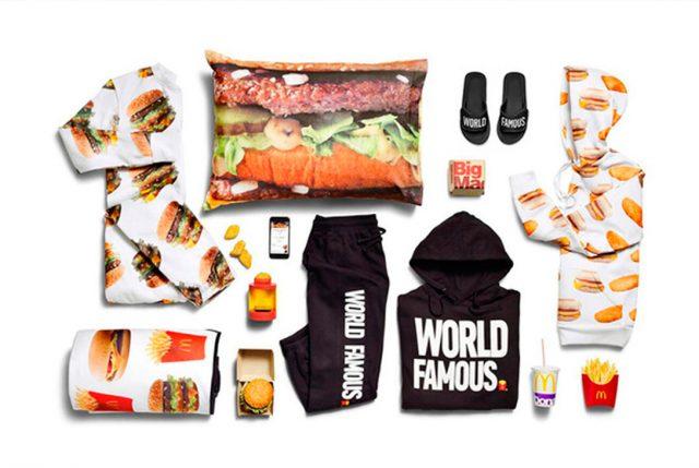 Lanzan colección de ropa, zapatos y accesorios inspirados en las hamburguesas de Mc Donalds