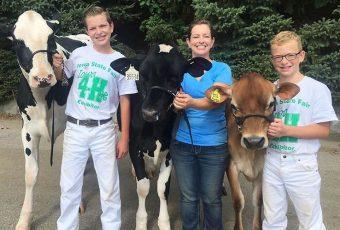 Luego de perder un concurso, un muchacho y su vaca se quedaron dormidos y su foto se volvió viral.