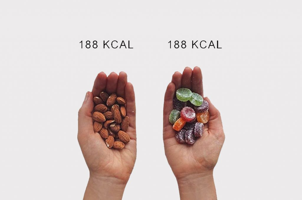 Bloguera de fitness compara las calorías para que cambies tu forma de ver la comida