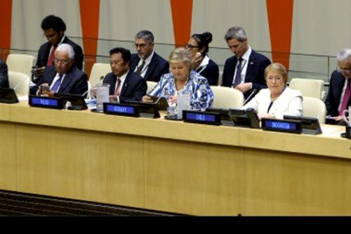 """Bachelet manda claro mensaje desde la ONU:  """"No es posible un crecimiento a largo plazo, ni tampoco un verdadero desarrollo, sin una política activa de protección del medio ambiente"""""""