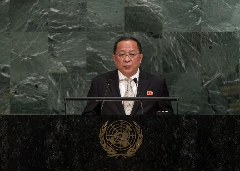 """Canciller norcoreano en la ONU: """"Visita de nuestros misiles a EEUU, inevitable"""""""