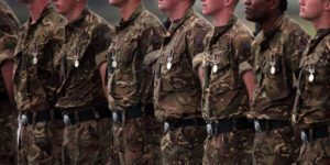 Foto referencial de soldados británicos