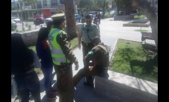 Foto de Facebok publicada por el Diario El Día y que muestra al policía involucrado en la muerte de un callejerito.