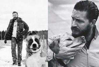 Las tiernas fotos de Tom Hardy con perros se vuelven virales