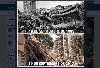 Impactantes registros del terremoto en México