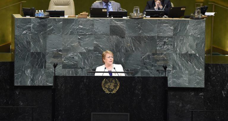 """Pdta. Bachelet en la Asamblea General de la ONU: """"el desarrollo sustentable no es un anhelo imposible de financiar"""""""
