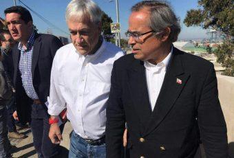 """Pugh le propuso a Piñera tres puertos para la Región de Valparaíso y crear la """"Agencia Logística Regional"""""""