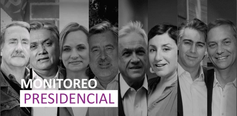 Cadem: Piñera cae un punto, Guillier sube cuatro y Sánchez retrocede dos