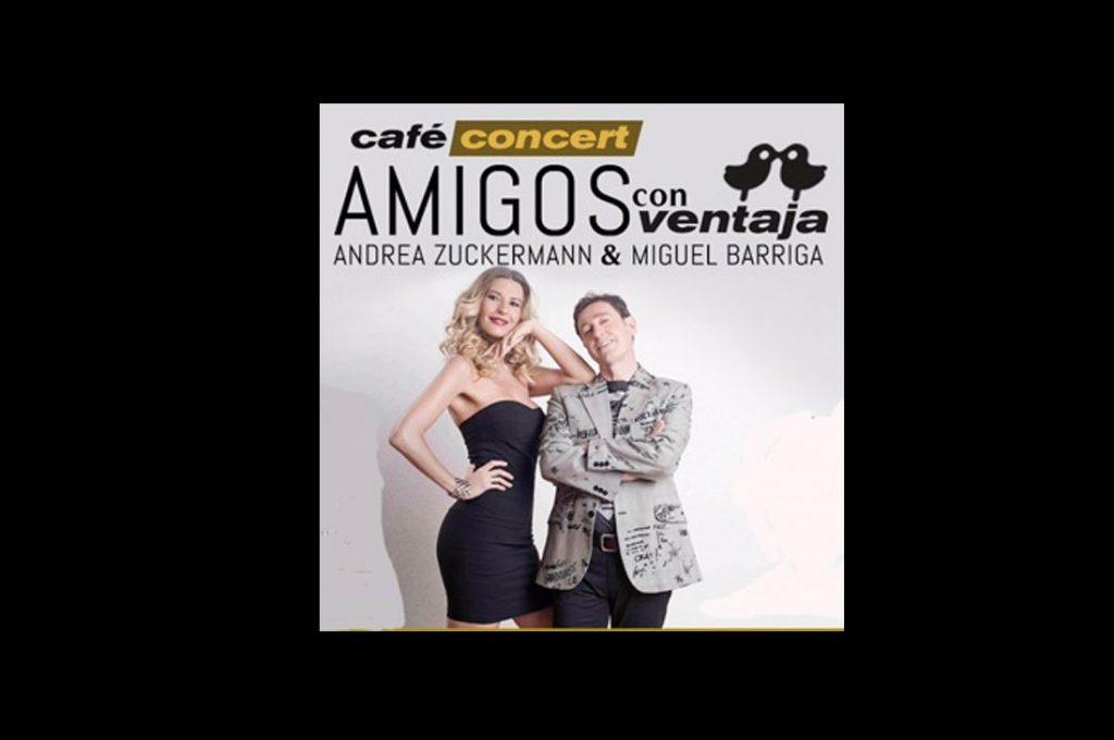 Café Concert AMIGOS CON VENTAJA Andrea Zuckermann y Miguel Barriga