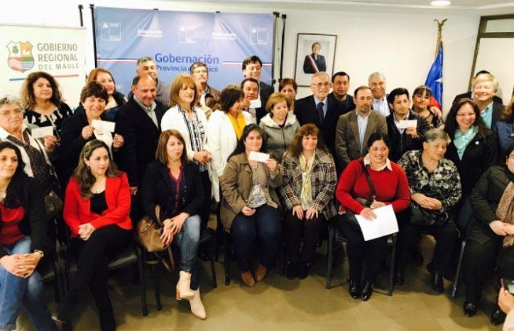 OOSS de Curicó reciben recursos para invertir en Seguridad Ciudadana