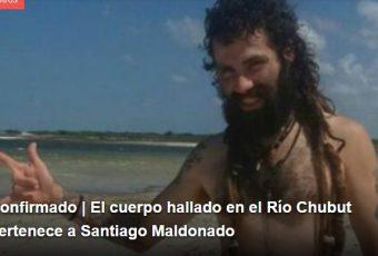Argentina: Radio Mitre confirma que ha sido encontrado el cuerpo de Santiago Maldonado en Río Chubut