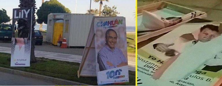 Amplitud denuncia destrucción de propaganda electoral de senadora Lily Pérez