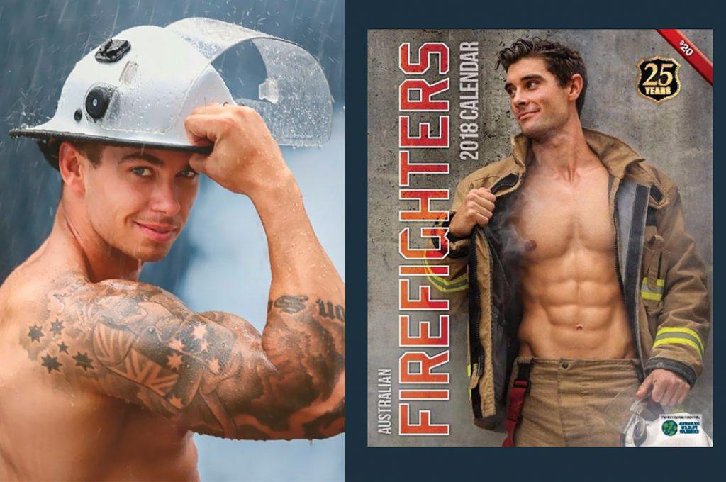 Las ardientes fotos de bomberos australianos para calendario benéfico