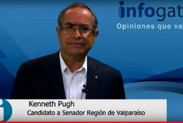 """Kenneth Pugh, candidato a senador Región de Valapraíso: """"Somos la Región que le da el ancho a Chile"""""""