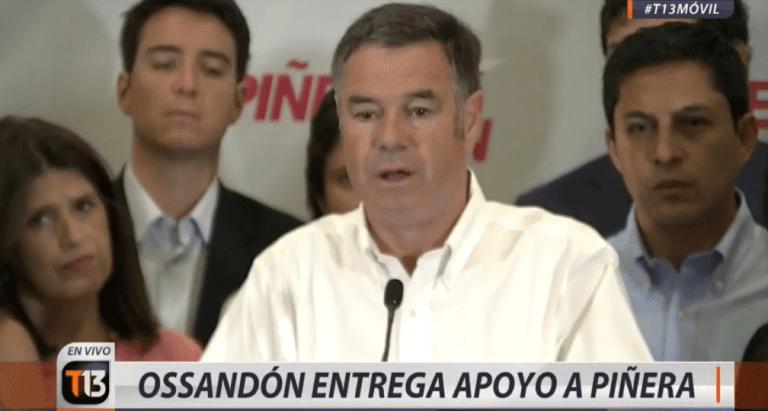 """La voltereta de Ossandón: Apoya a Piñera pero le advierte que """"si no cumple los compromisos, tendrá a su peor enemigo"""""""