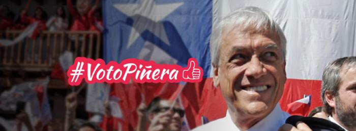 El autobullyng de Piñera: Esta imagen colgada en el facebook oficial del candidato en que aparece con una mirada pícara que en nada favorece su imagen de candidato presidencial, claramente un autobullyng.