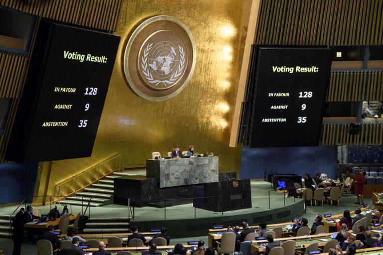 El mundo reunido en la ONU por abrumadora mayoría, incluido Chile, votan en contra de convertir a Jerusalén en capital de Israel