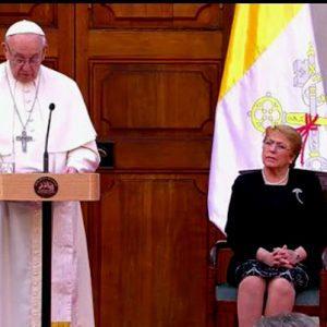 Papa Francisco en en Palacio de La Moneda, Chile