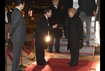 Presidenta Bachelet en su última gira  llegó a Tokio para iniciar Visita Oficial