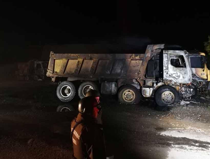 De madrugada queman 22 camiones en el Biobío y La Araucanía