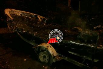 Desconocidos queman por primera vez embarcación en La Araucanía