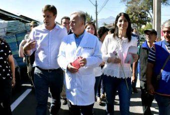 Ministro de Salud elige Puente Alto para reforzar campaña de vacunación contra la Influenza que llega con agresiva cepa