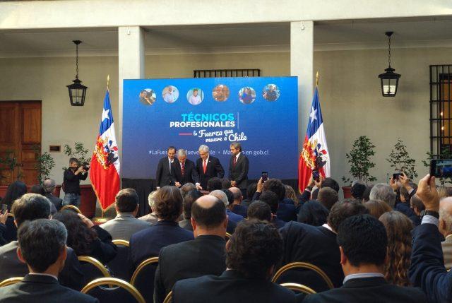 Presidente Piñera presenta Proyecto de Ley que otorga gratuidad al 70% de estudiantes vulnerables en CFT e IP