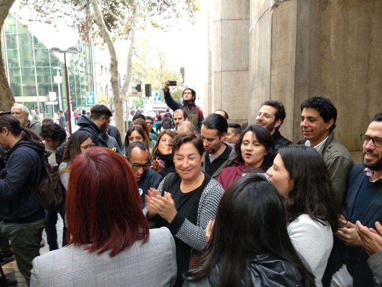 Beatriz Sánchez entregó su respaldo a trabajadores de Canal 13